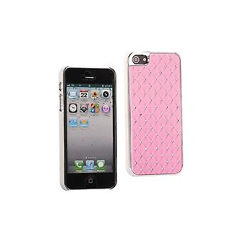 Plastic Hull With Strass On Rose Clear Background For IPhone 5