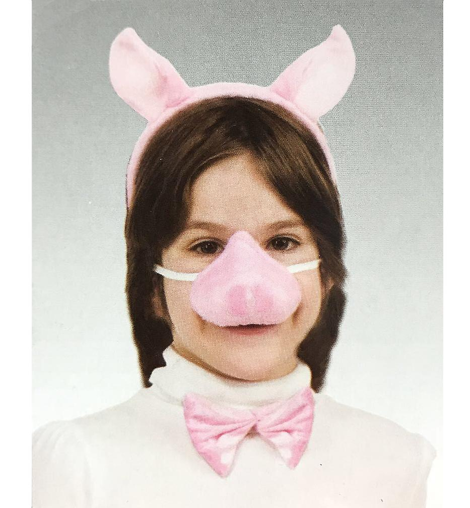 Pig Piggy Animal Set Ear Nose Tail Choker Book Week Girls Costume Kit with Sound