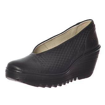 Fly London Yena 685 Fly Wedge Round Toe Court Shoe