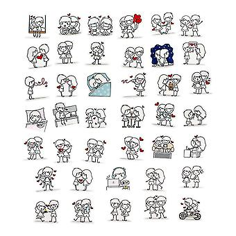 40x Stickers - Love