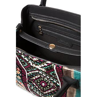 Desigual Women's Between Holbox Mini Beaded Embroidered Shopper Bag