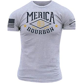 Grunt Style Merica Bourbon Barrel T-Shirt - Heather Gray