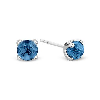 Chips ears Ti Sento Indigo Impressions 7768DB - buckles of ears earrings silver stone Blue 6 mm crimped claw