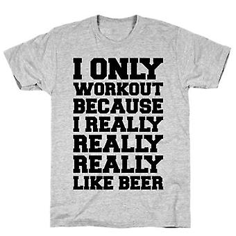 Beer workout grey t-shirt