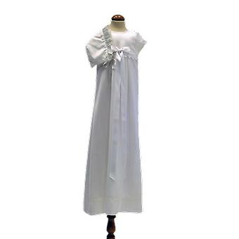 Christening dress With Dophätta And Broad White Bow. Sess.