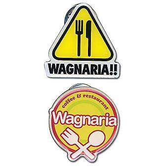 Pin Set - Wagnaria !! - New Logo Metal (Set of 2) Anime Licensed ge50025