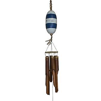 10 Carillon de vent de bambou de flotteur de poisson de bois