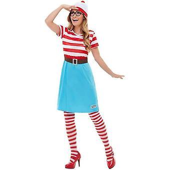 Wo's Wally? Wenda Kostüm Erwachsene rot / weiß