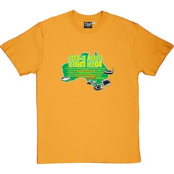 "Ashes 2010-11 ""Down Under"" Yellow Men's T-Shirt"
