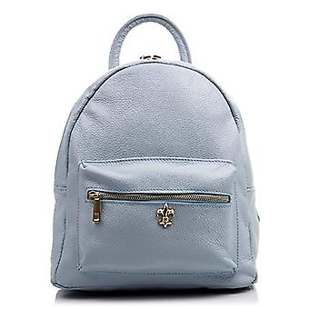 FIRENZE ARTEGIANI Women's backpack casual real skin. Backpack leather bag genuine Dollar. Soft touch. Hand handle. Women's backpack Made in ITALY. REAL ITALIAN PELLE 26x27x14 cm. Color: BLU CHIARO