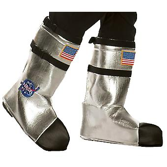Astonaut Boot Tops Silver Adult