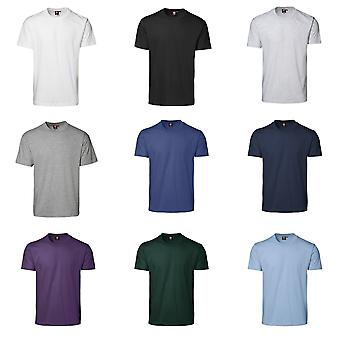 ID Mens jogo clássico Regular montagem manga curta redonda camiseta de pescoço
