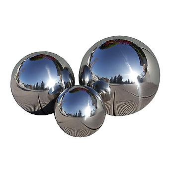 Stainless steel ball garden decorative SferaInox set of 3 15 / 20 / 25 cm 10798