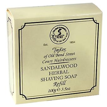 Taylor Of Old Bond Sandalwood Herbal Shaving Soap Refill - 100g