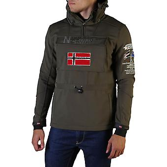 Mens Geographical Norway Terreaux Half Zip Softshell Jacket In Red
