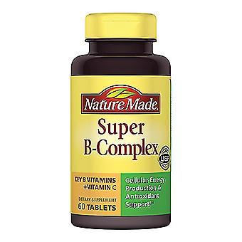 Nature made super b-complex, tablets, 60 ea