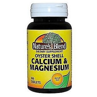 Nature's blend oyster shell calcium & magnesium, tablets, 100 ea