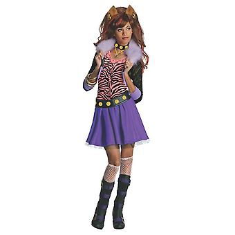 Monster High Childrens/Kids Clawdeen Wolf Costume