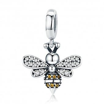 Sterling Silver Pendant Charm Luminous Bee - 5719