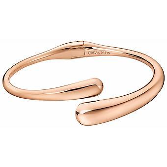 Calvin Klein KJDMPF10010M Rose Gold Tone Saranoitu Rannerengas Medium