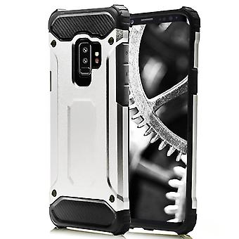 Shell for Samsung Galaxy S9 Silver Armor Protection Case Hard