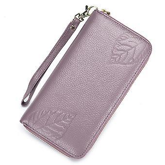 Large Genuine leather RFID wallet 090