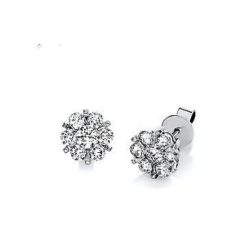 Diamond stud earrings stud earrings - 18K 750/- white gold - 1.46 ct. - 2E005W8-3