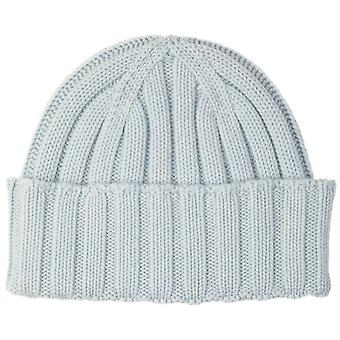 Johnstons of Elgin Seamless Chunky Ribbed Cashmere Beanie - Powder Blue
