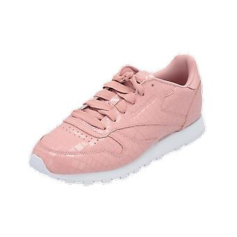 Reebok Classic CL LTHR CRACKLE Women's Sneaker Beige Gym Shoes Sport Running Shoes