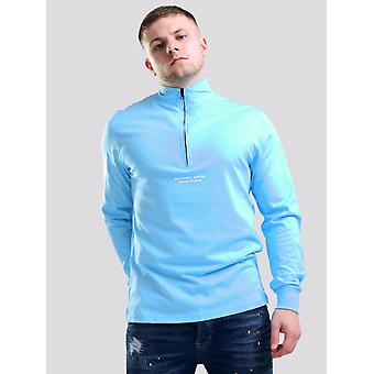 Marshall Artist Siren Funnel Zip Neck Top - Sky