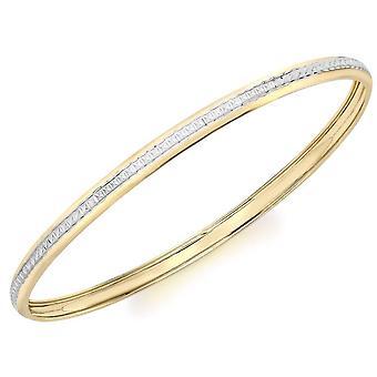 Corte del KJ Beckett diamante brazalete - amarillo oro/plata