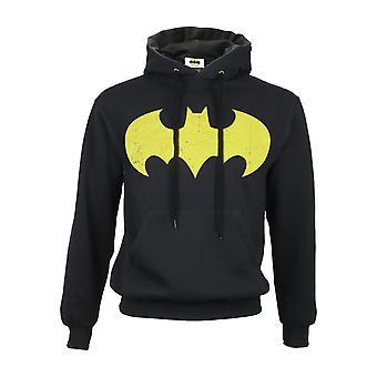 DC קומיקס באטמן מנופחים גברים לוגו צהוב ' s pullover קפוצ'ון | הסחורה הרשמית