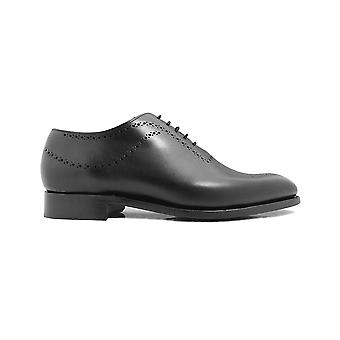 Barker Plymouth Black Calf Leather Mens Oxford Lace Shoes