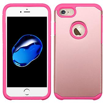 Asmyna Astronoot Protector Case with Holster for iPhone 8/7 - Rose Gold/Hot Pink