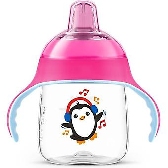 Philips Avent Leak-free Penguin Cup 260ml Pink