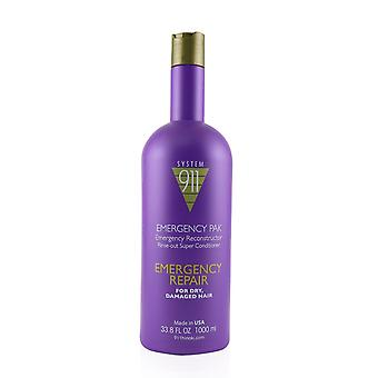911 emergency pak emergency reconstructor rinse out super conditioner (for dry, damaged hair) 1000ml/33.8oz