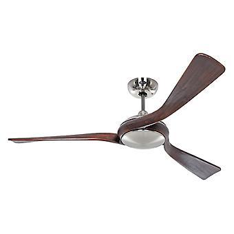 Ventilateur de plafond DC Eco Interior Chrome / Noyer