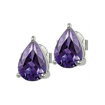 Jacques Lemans - Sterling Silver Studs with Amethyst - SE-O111D
