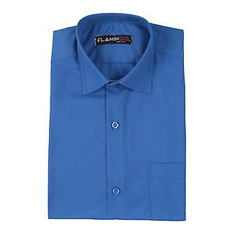 Boys Cotton Formal Blue Shirt