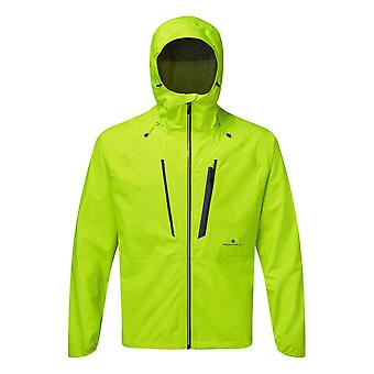 Ronhill Infinity Fortify Mens Fully Waterproof & Breathable Running Jacket Fluo Yellow