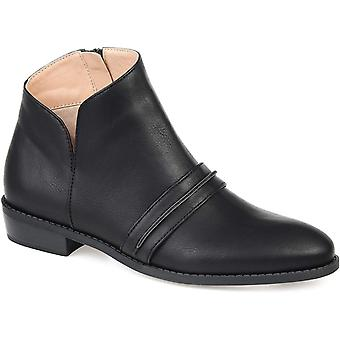 Journee Collection Women's Shoes Harlow Leather Closed Toe Ankle Fashion Boots