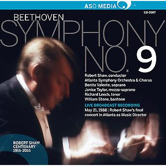 Beethoven, Larsen / sten, William / Leech, Richard - Ludwig Van Beethoven: symfoni No. 9 [CD] USA import