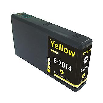 RudyTwos Ersatz für Epson Pyramide Ink Cartridge Yellow(ExtraHighYield) kompatibel mit WorkForce Pro WP-4015, WP-4025, WP-4025DW, WP-4095, WP-4500, WP-4515, WP-4525, WP-4525DNF, WP-4535, WP - 4535D