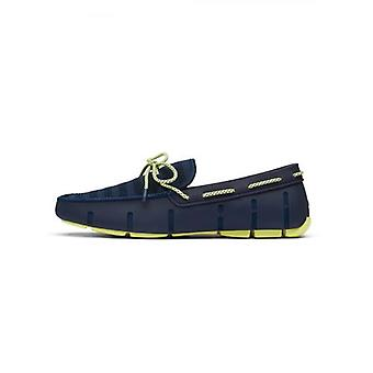 Zwemt Navy & Lime Knit Lace Loafer