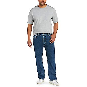 Essentials Men's Big & Tall Relaxed Straight-fit Stretch Jean fit by D...