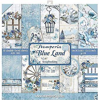 Stamperia Blue Land 12x12 Inch Paper Pack