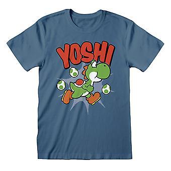 Super Mario Mario Logo Donna's Fidanzato Fit T-Shirt Merchandise Ufficiale