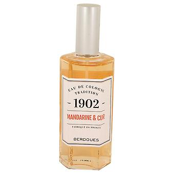 1902 Mandarine Leather Eau De Cologne Spray (Unisex-unboxed)) By Berdoues 4.2 oz Eau De Cologne Spray