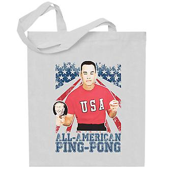 Forrest Gump All American Ping Pong Totebag