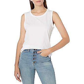 Merkki - Goodthreads Women's Pesty Jersey Puuvilla Crewneck Lihas T-paita, Valkoinen , Suuri